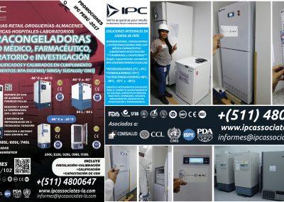 2. Implementación en Cadena de Frío - Congeladoras y Ultracongeladoras de uso Médico-Farmacéutico-Laboratorio