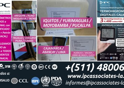 6. Termohigrómetros Digitales CALIBRADOS IPC