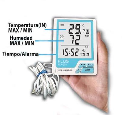 FL-201 venta de termohigrometros - FL 201 1 - Venta de termohigrometros – Instrumentos, monitores y registradores